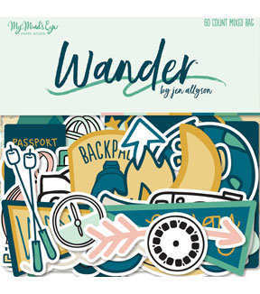 My Mind\u0027s Eye Wander 60 pk Mixed Bag Cardstock Die-Cuts