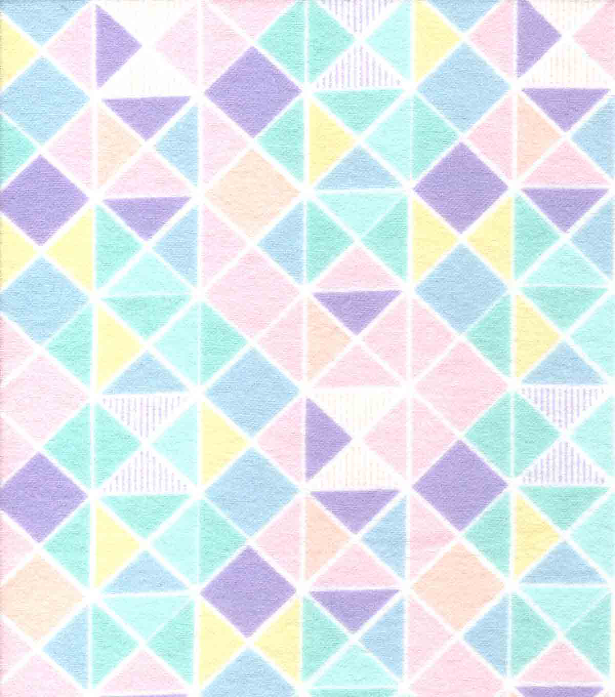 Snuggle Flannel Fabric -Pastel Geometric