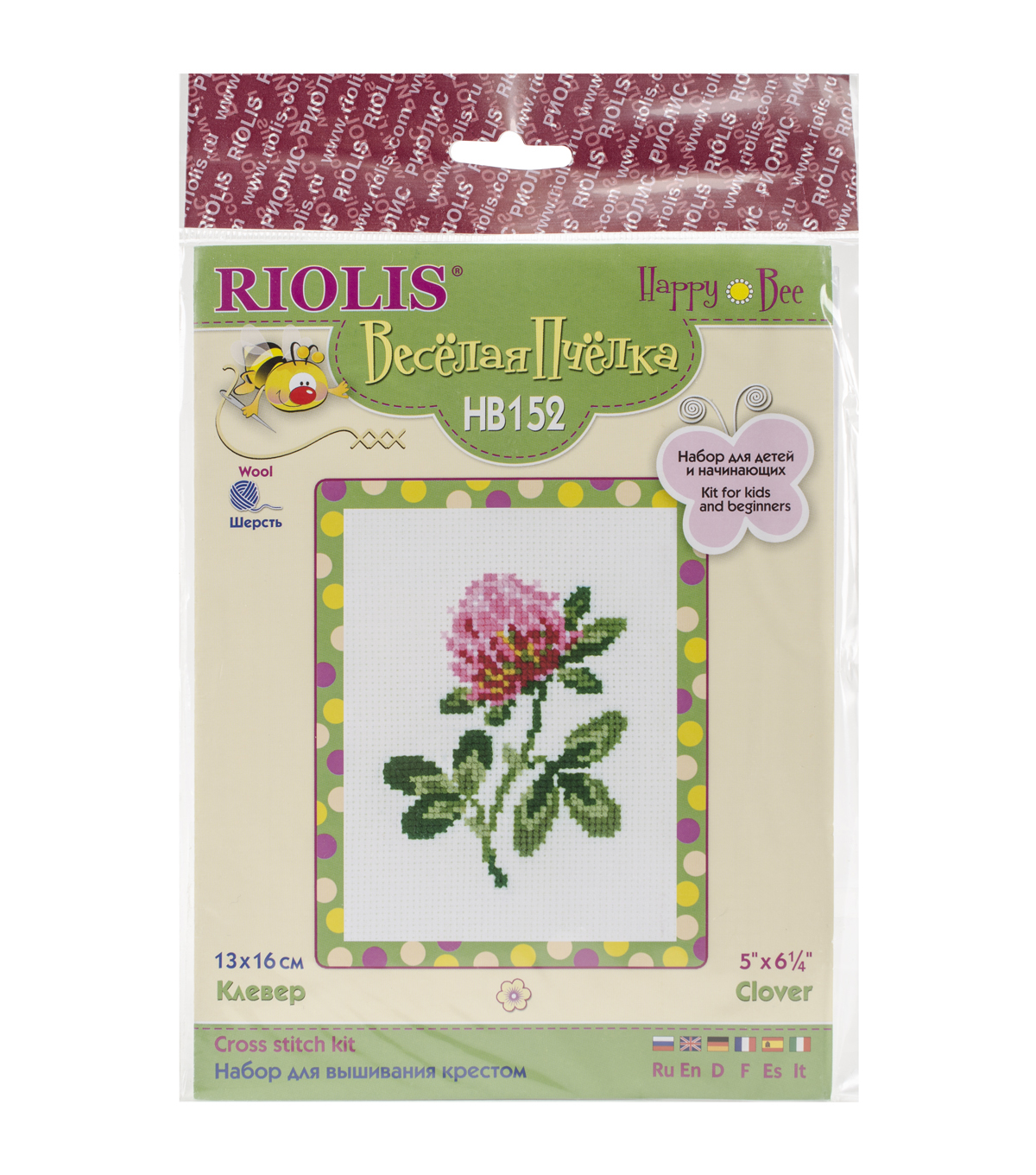 Riolis 5\u0027\u0027x6.25\u0027\u0027 Counted Cross Stitch Kit-Clover