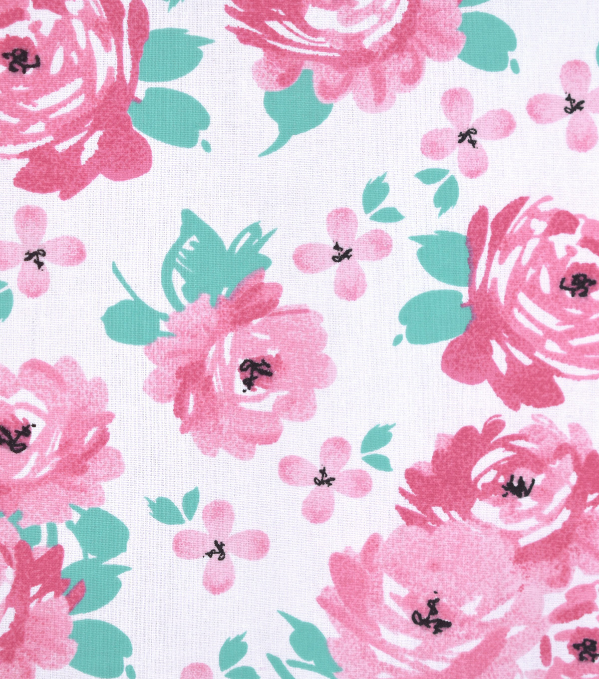 Nursery Cotton Fabric 43\u0022-So Loved Large Floral