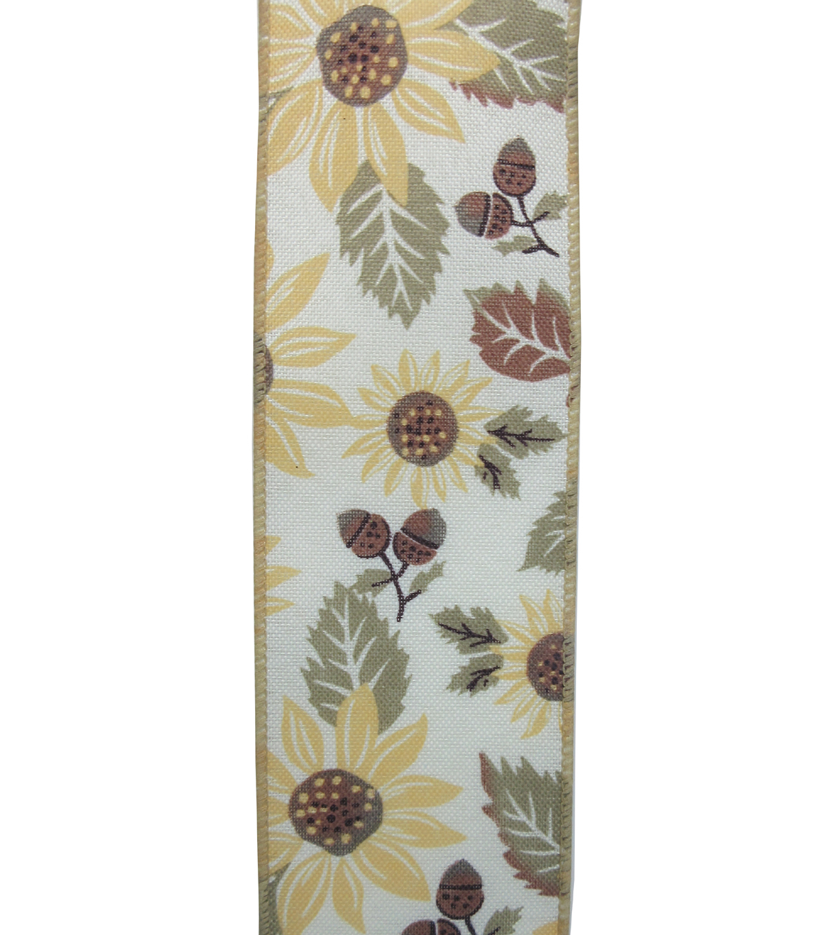 Simply Autumn Ribbon 2.5\u0027\u0027x12\u0027-Sunflower on Ivory