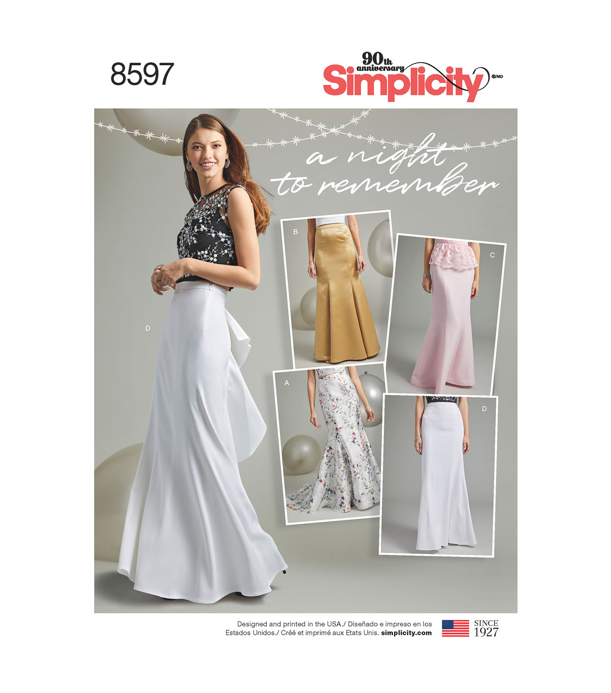 Simplicity Pattern 8597 Misses\u0027/Women\u0027s Skirts-Size BB (18W-26W)