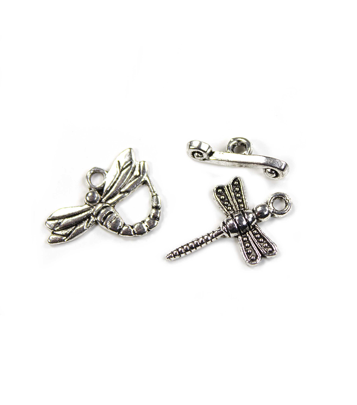 Blue Moon Findings Clasp Metal Toggle Dragonfly Charm Antique Silver