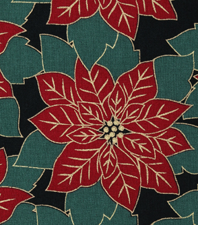 Christmas Cotton Fabric-Packed Poinsettias