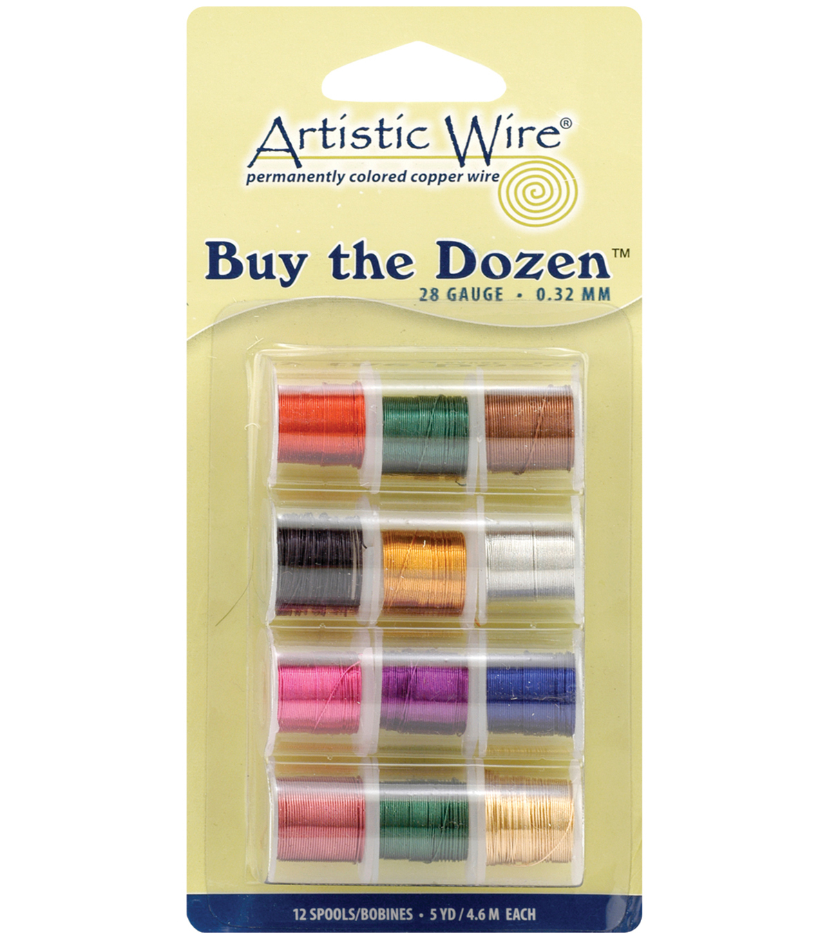 Artistic Wire Buy the Dozen Permanent Colored Wire-12PK/Assorted, 28 Gauge