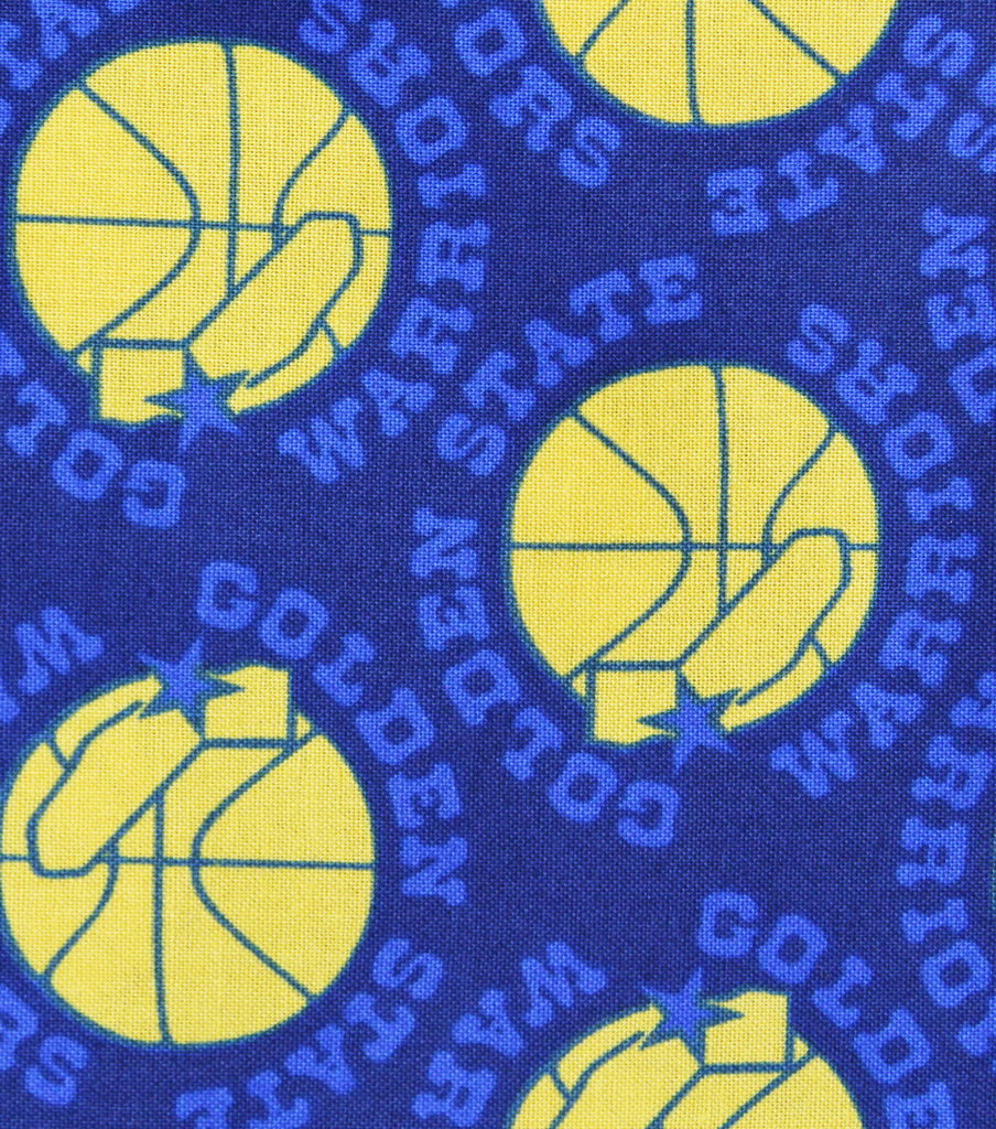 Golden State Warriors Cotton Fabric -Vintage Logo