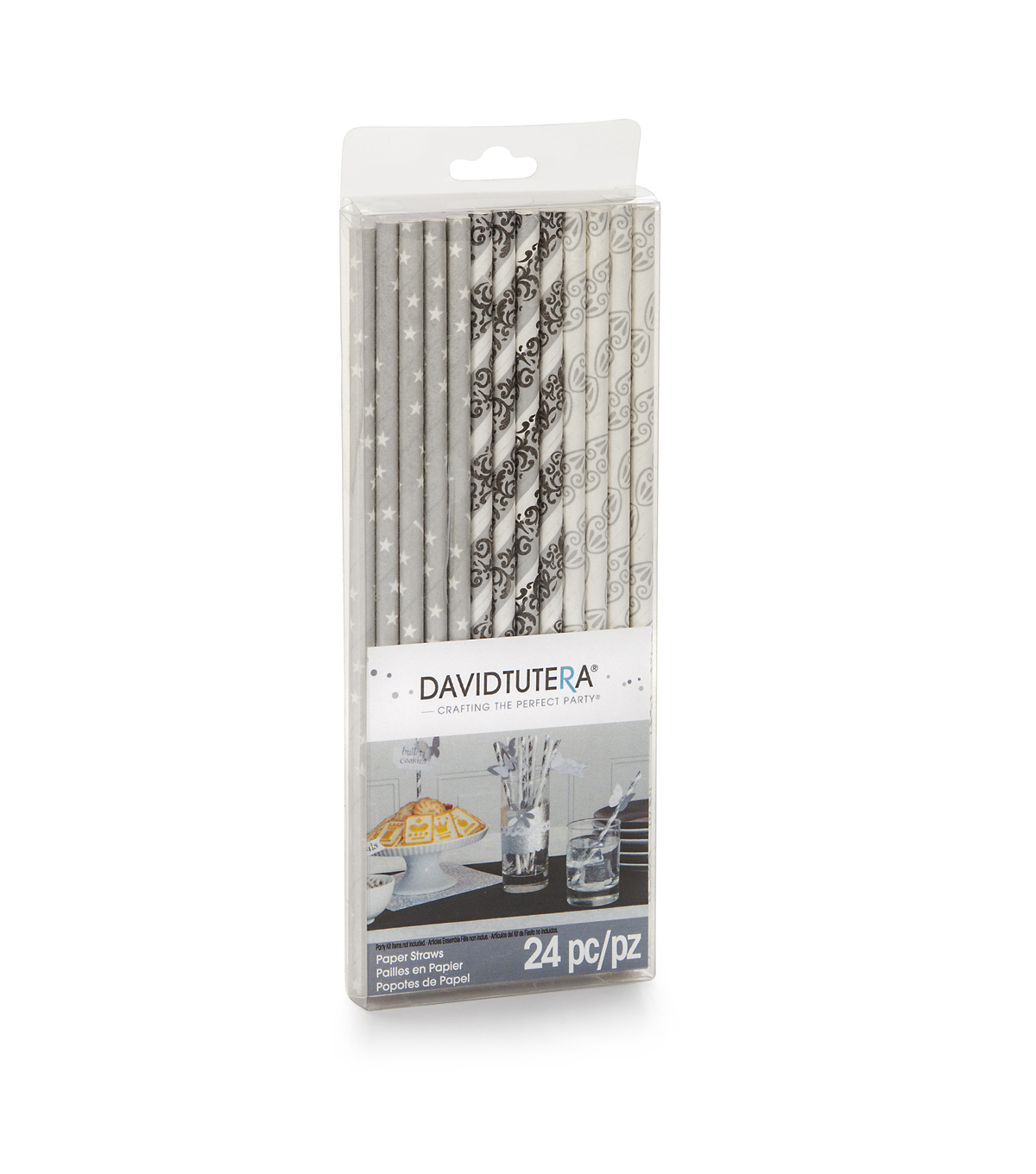 David Tutera Crafting the Perfect Party - Silver, White, Black Straws