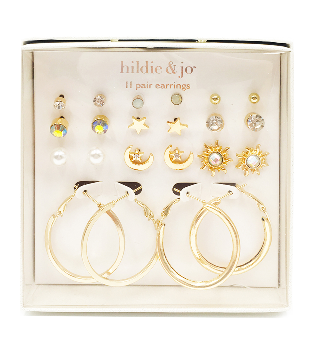 hildie & jo 11-pair Post & Hoop Earrings