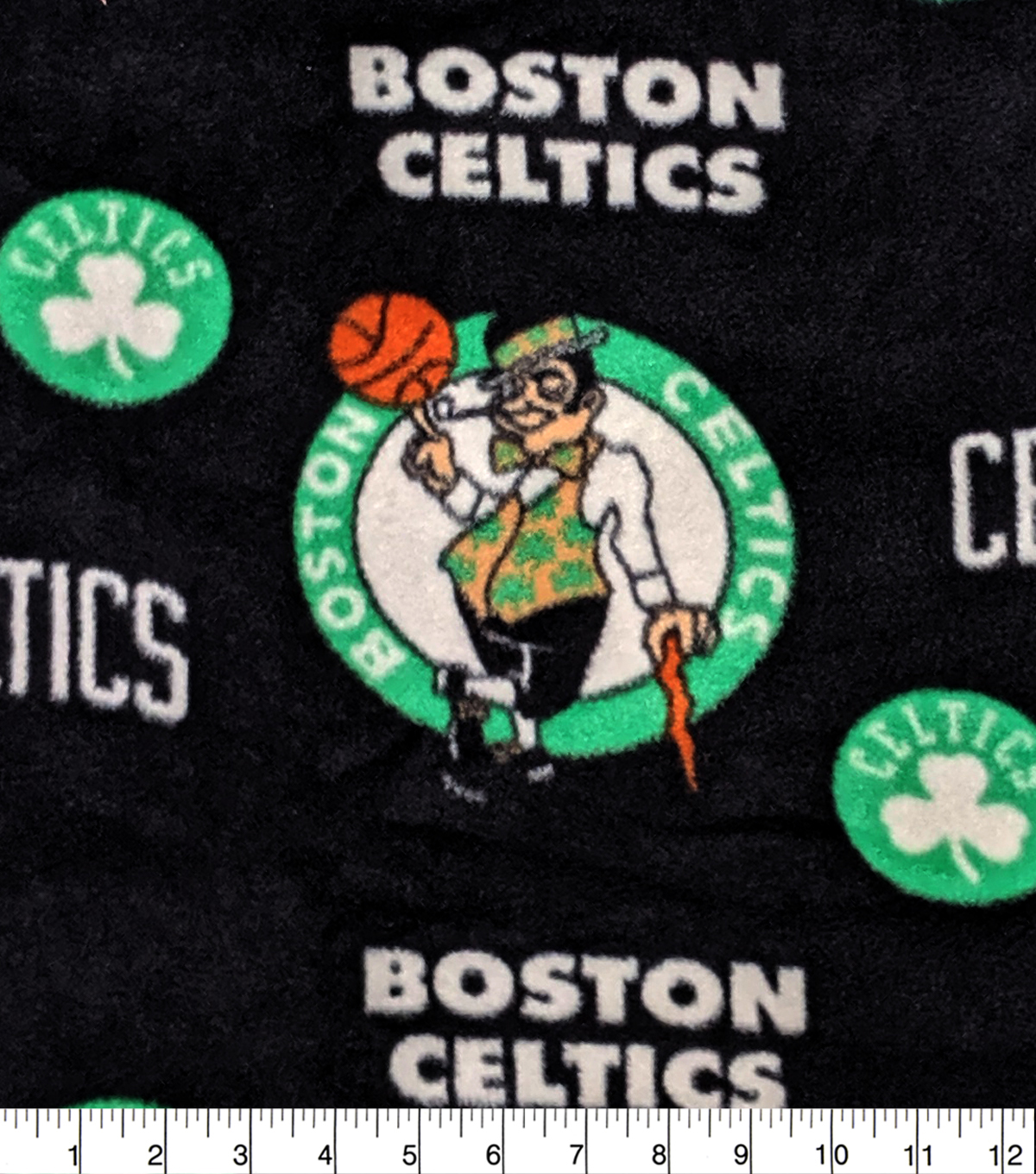 Boston Celtics Fleece Fabric-Allover