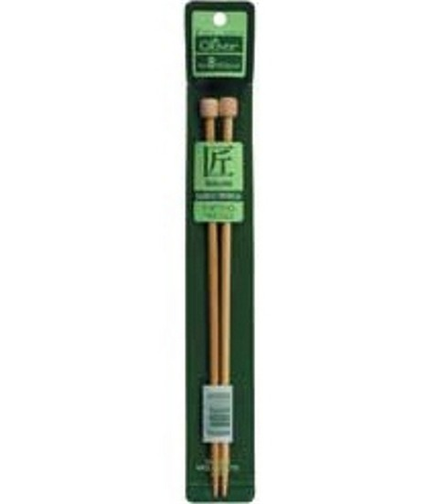Clover Bamboo Single Point Knitting Needles 9\u0022-Size 0