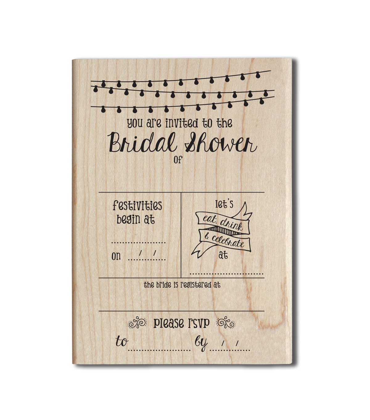 Jillibean Soup Wood Stamp-Bridal Shower
