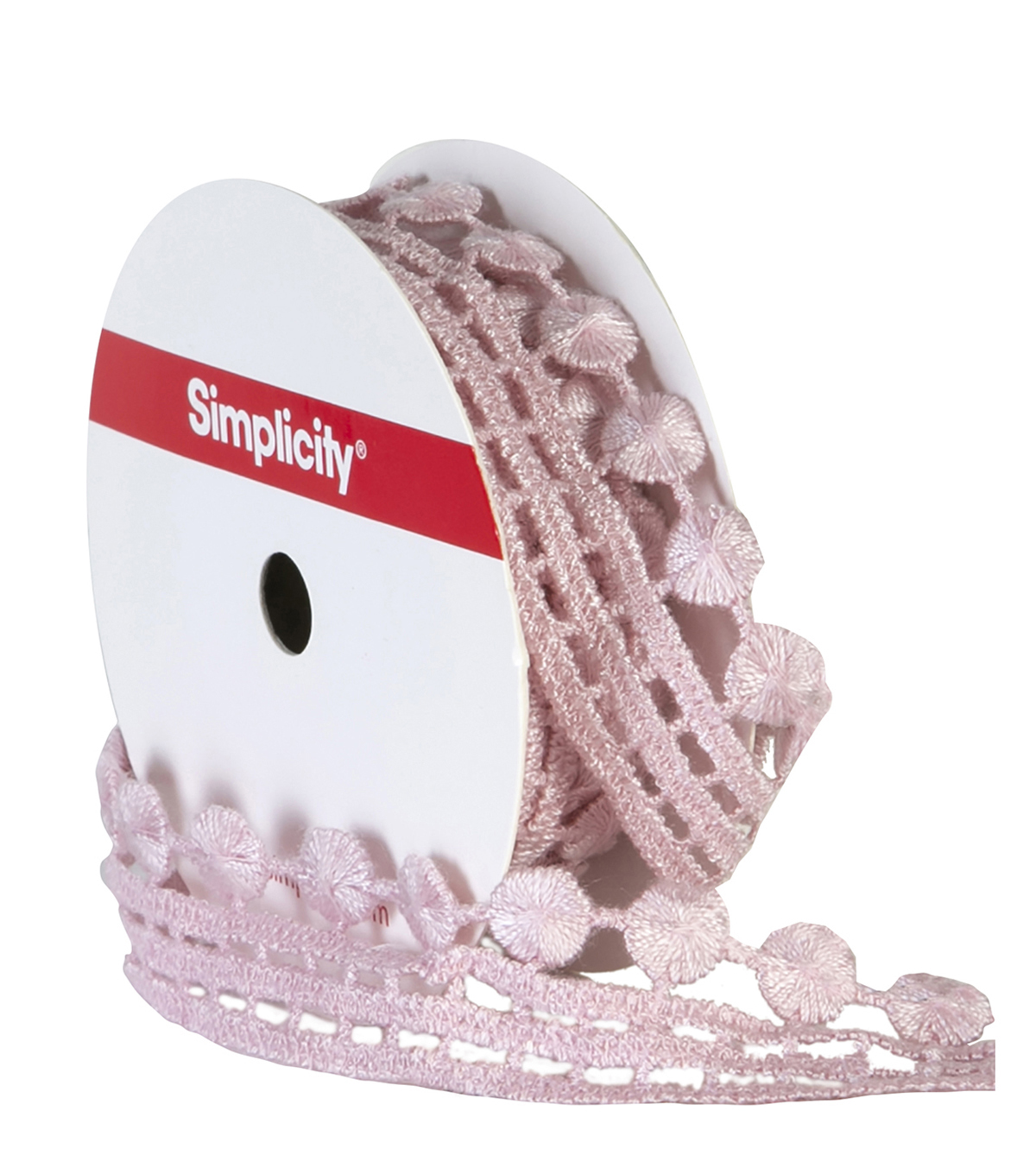 Simplicity Trims-1\u0022 Flat Dot Blush 6Ft