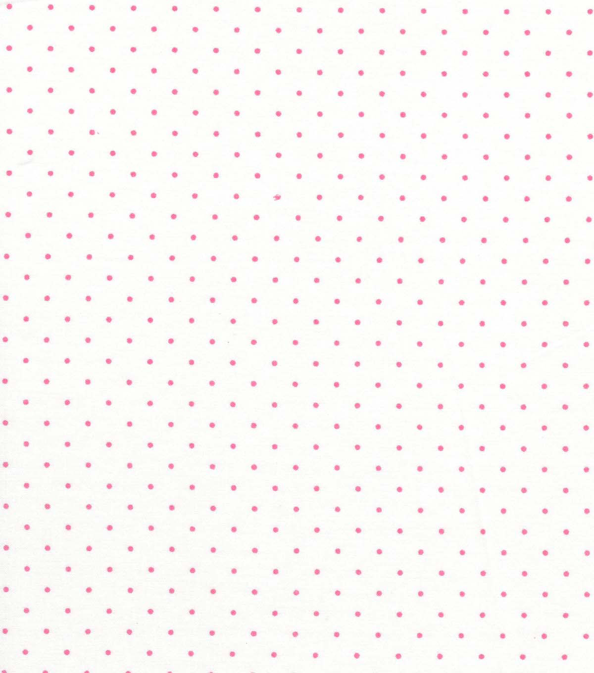 Quilter\u0027s Showcase Cotton Fabric -Pink Swiss Dots on White