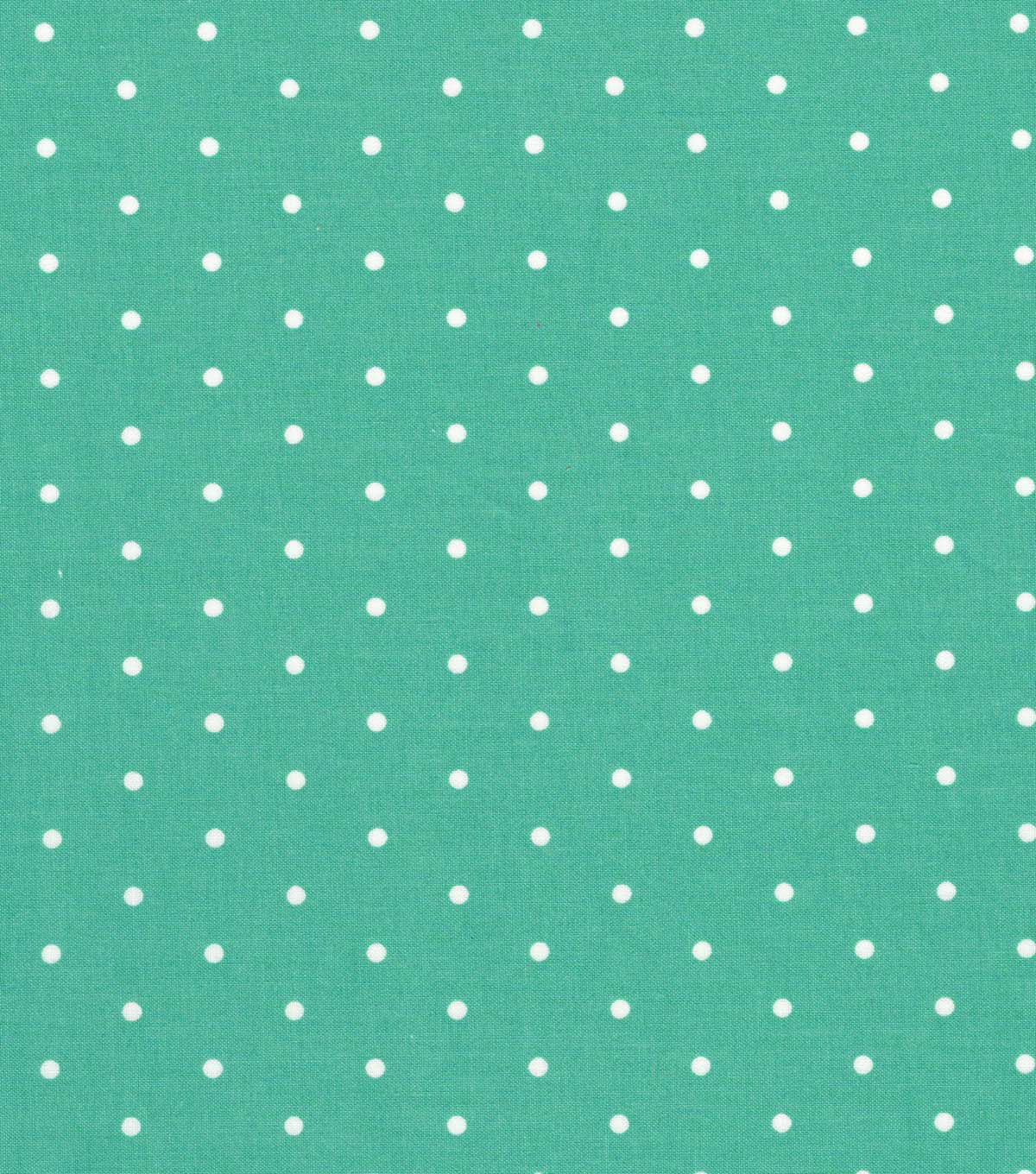 Quilter\u0027s Showcase Cotton Fabric -Blue Turquoise Aspirin Dot