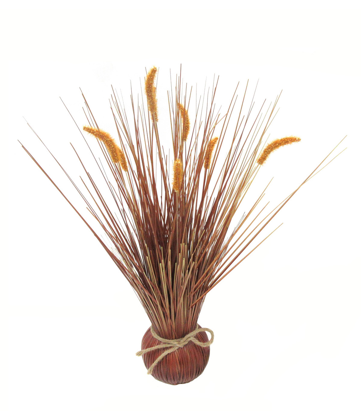Blooming Autumn 17\u0027\u0027 Cattail Arrangement-Brown