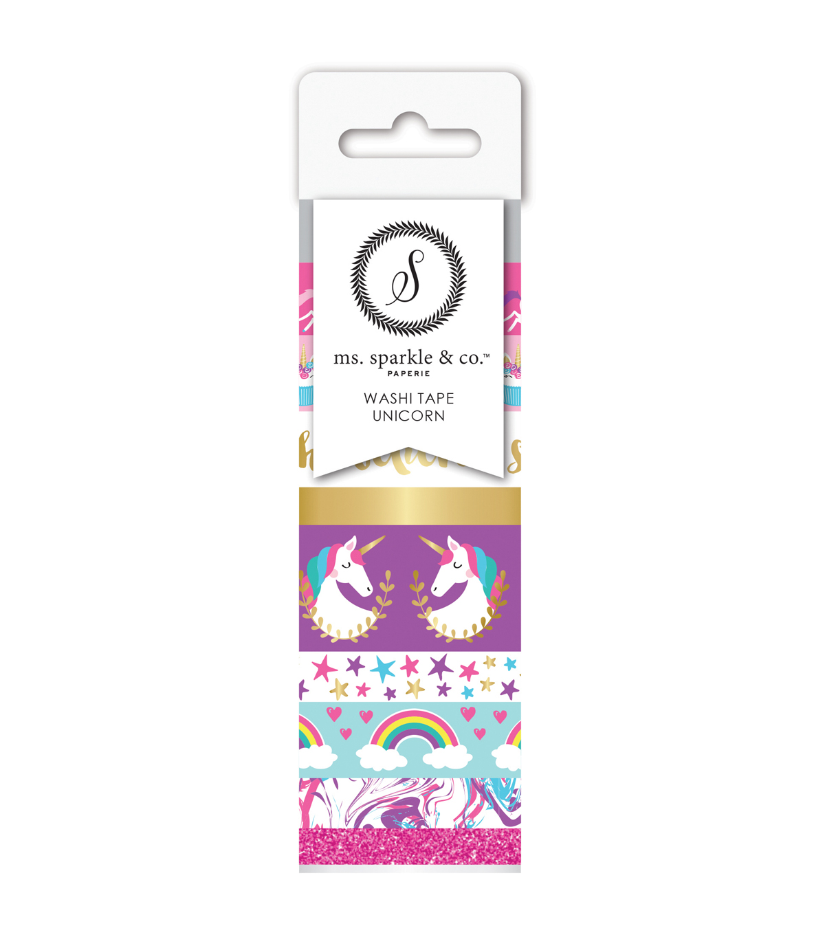 Ms. Sparkle & Co. 9 pk Washi Tapes-Unicorn