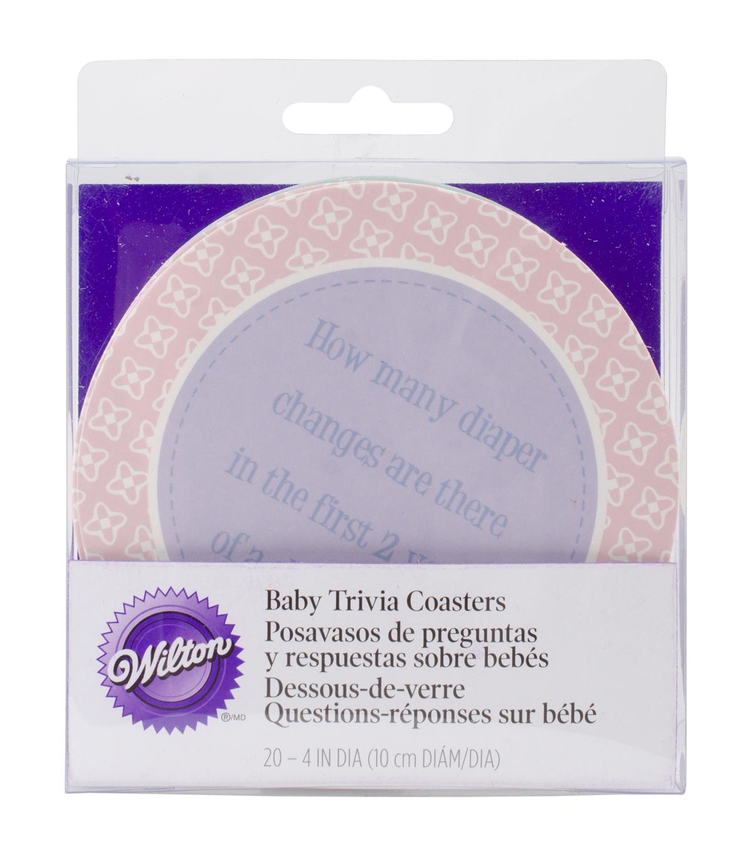 Wilton 20 Ct Baby Shower Trivia Coasters Game Joann