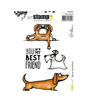 Carabelle Studio Art Alexi 4 pk A6 Cling Stamps-My Dog, My Best Friend