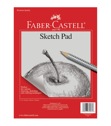 faber castell 60 sheets 9''x12'' sketch paper pad   joann