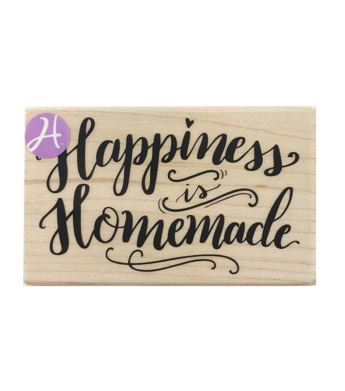 graphic regarding Happiness is Homemade titled Hampton Artwork 3.25x2 Picket Fixed Rubber Stamp-Contentment is Home made