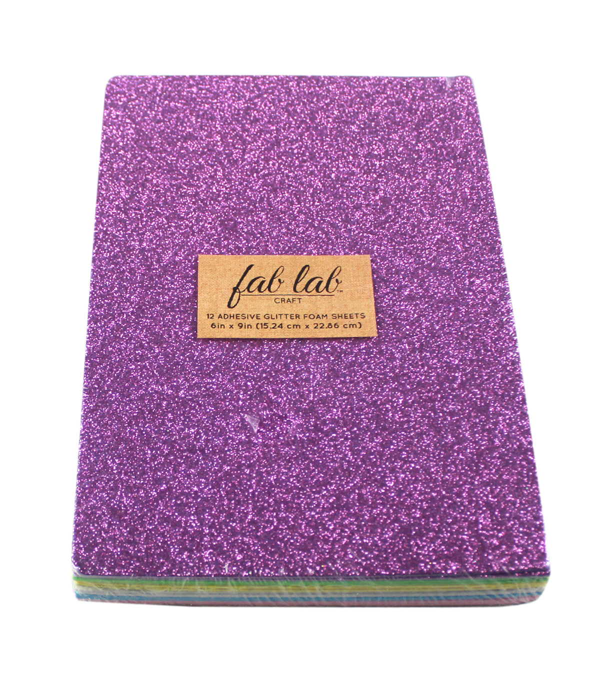 Little Makers  6\u0022x9\u0022 Adhesive Glitter Foam Sheets Value Pack