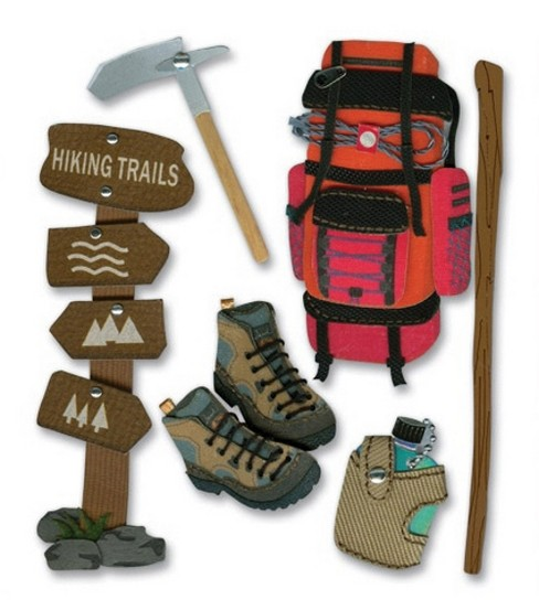 Jolee\u0027s Boutique Themed Ornate Stickers-Hiking Trip