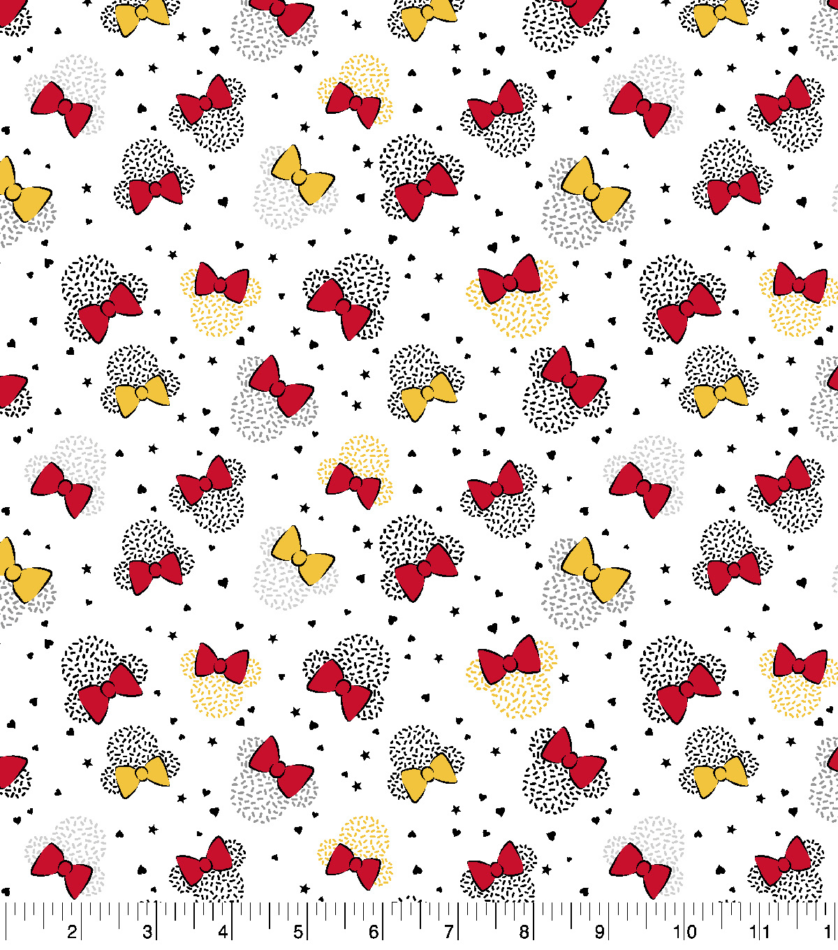 Disney Cotton Fabric-Minnie Mouse Stars & Hearts