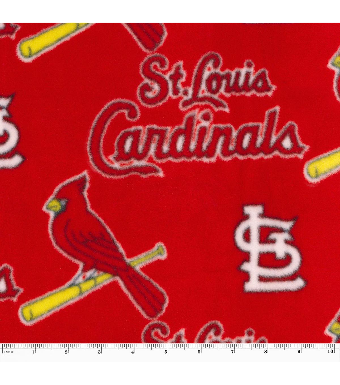 St Louis Cardinals Fleece Fabric 40 Red JOANN Beauteous St Louis Cardinals Throw Blanket