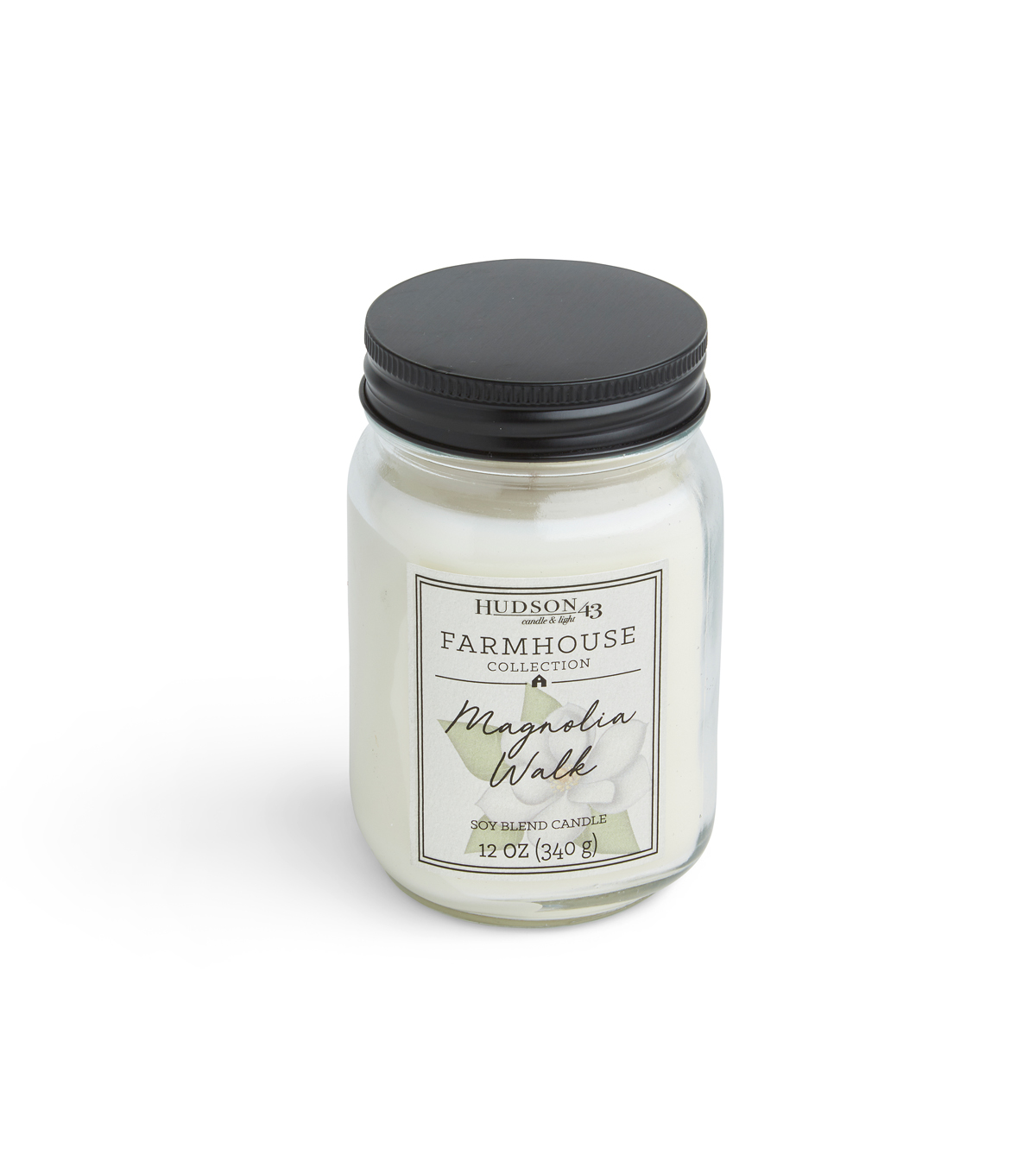 Hudson 43 Farmhouse Collection 12 oz. Magnolia Walk Mason Jar Candle