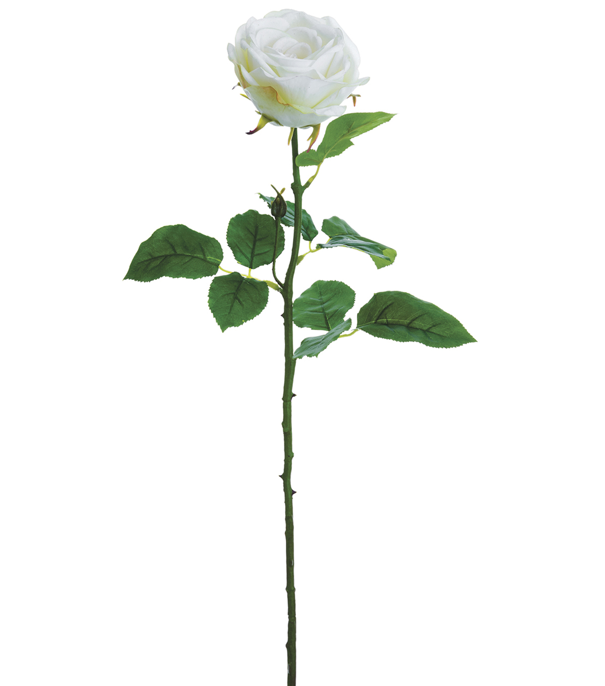 Bloom Room 27\u0027\u0027 Real Touch Rose Stem-White
