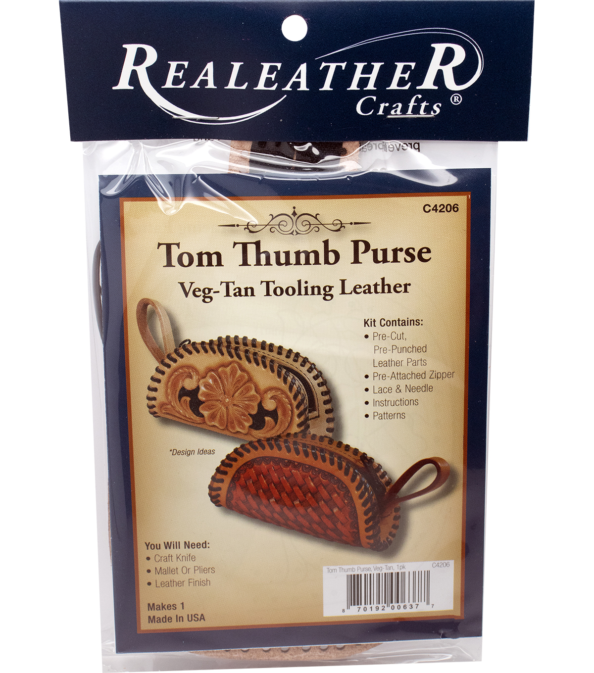 Tom Thumb Purse Kit-Vegtan