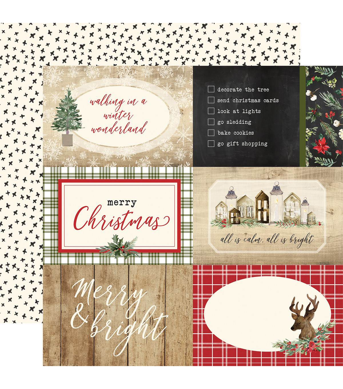 Christmas Double Sided Cardstock 12 X12 4 X6 Journaling Cards Joann