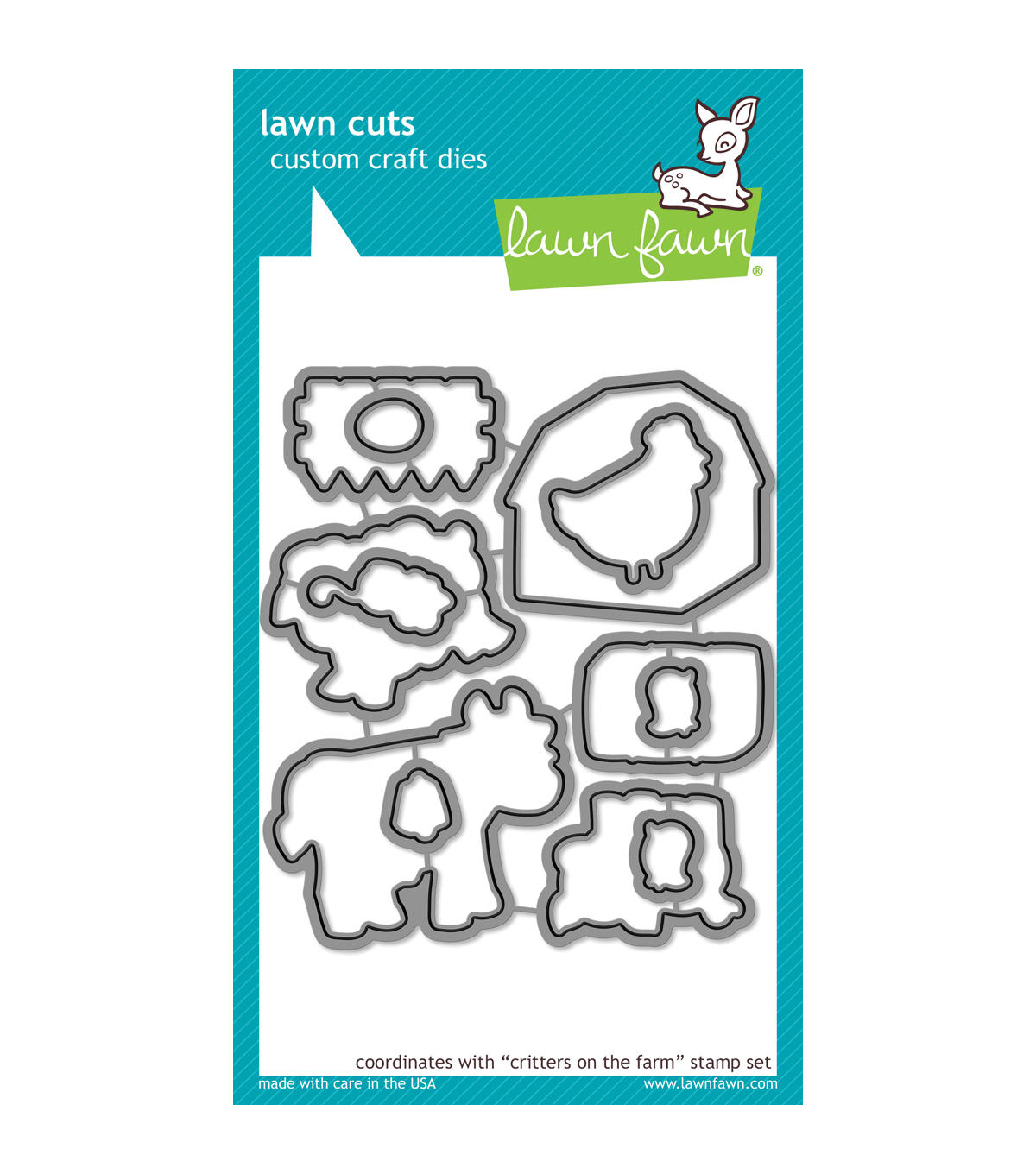 Lawn Fawn Lawn Cuts Custom Craft Die -Critters On The Farm