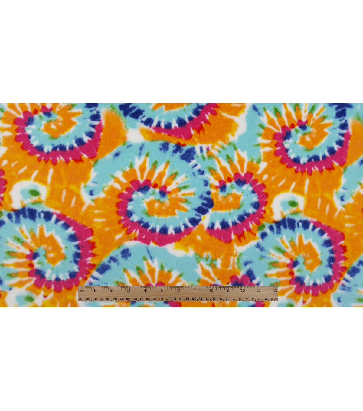 Anti-Pill Fleece Fabric 59\u0022-Bright Tiedye