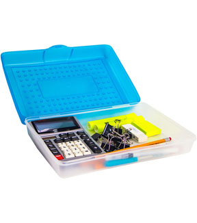 Storex Large Pencil Case-Blue