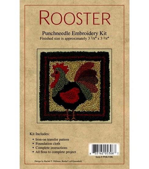 Rachel\u0027s of Greenfield Punch Needle Kit Rooster