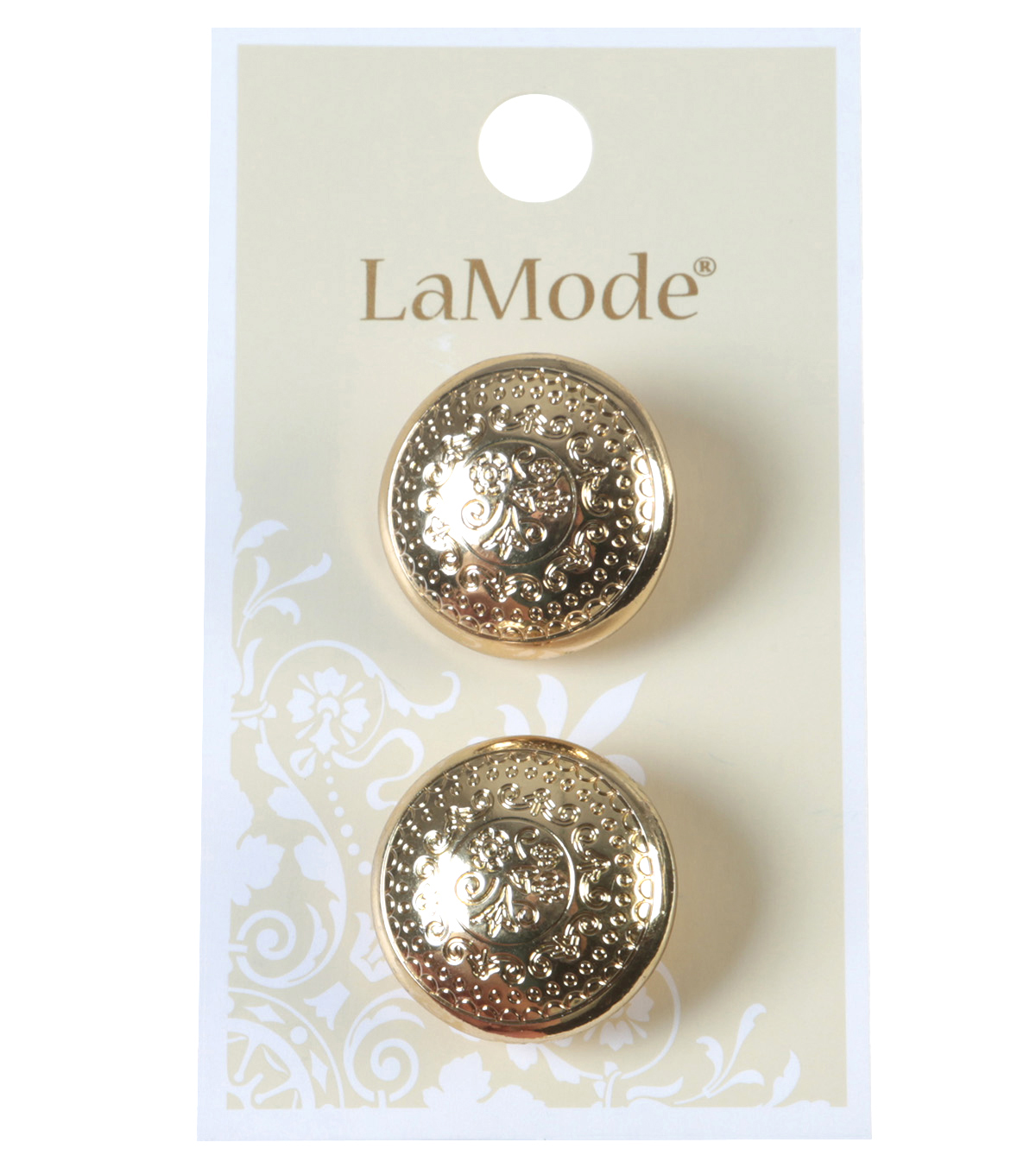 LaMode Gold Etched Buttons 22mm