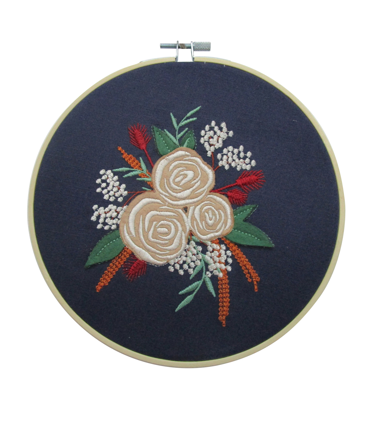 Simply Autumn Hoop-Placed Floral