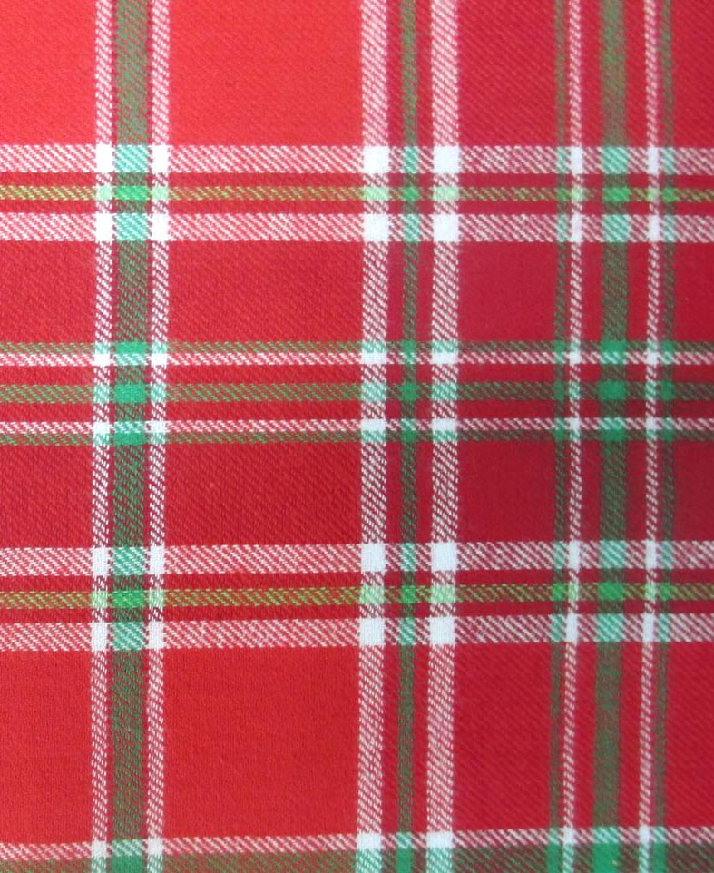 Flannel Shirting Fabric Red Green Flannel Shirting