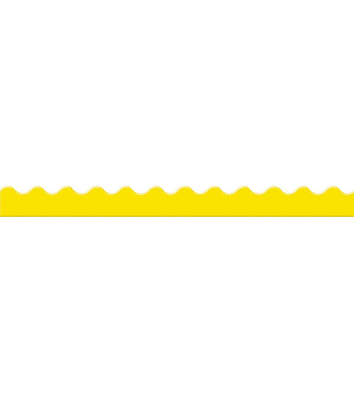 Eureka School Extra Wide Deco Trim-Color My World Solid Yellow