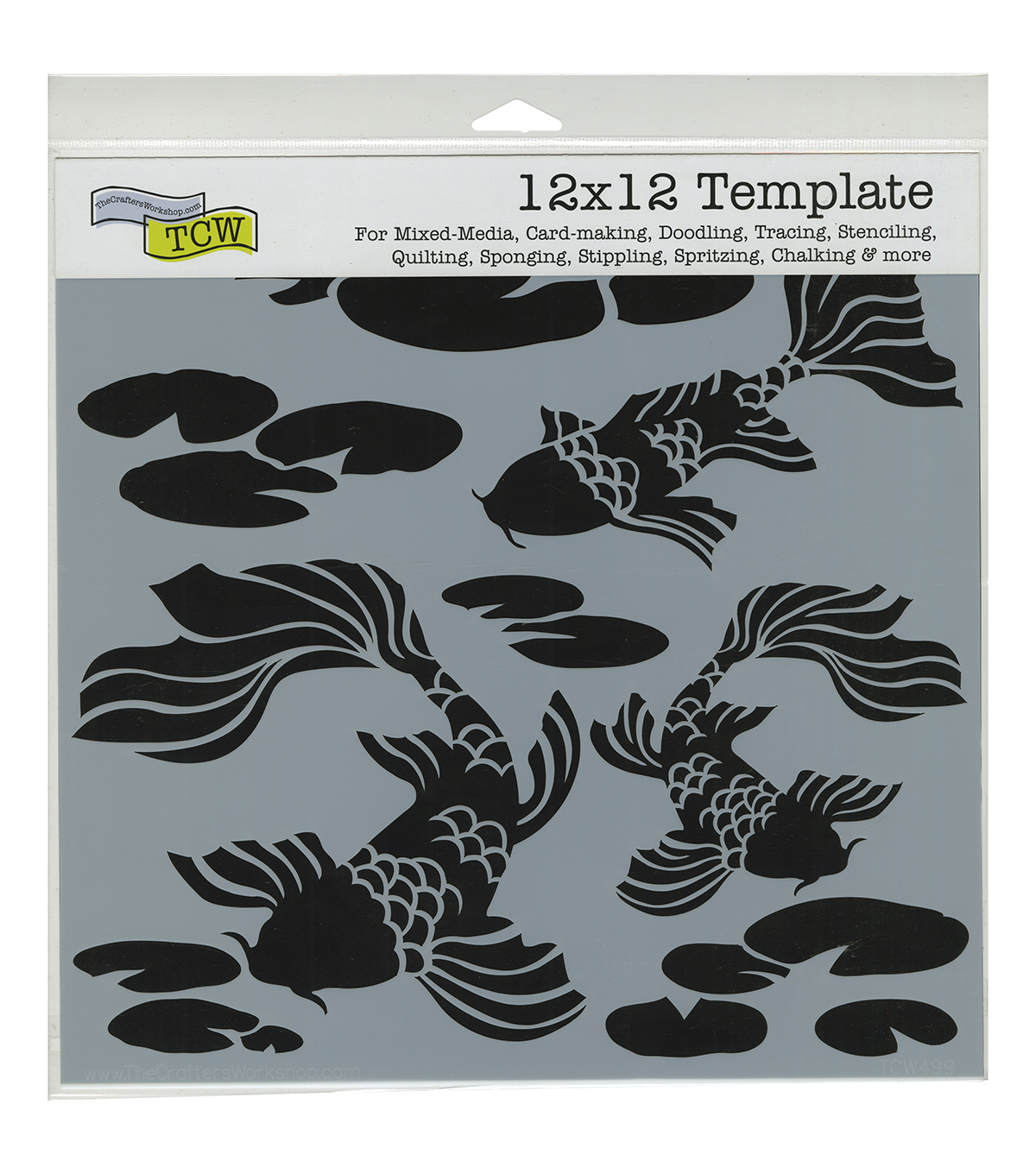 Crafter\u0027s Workshop Template 12\u0022X12\u0022-Koi Pond