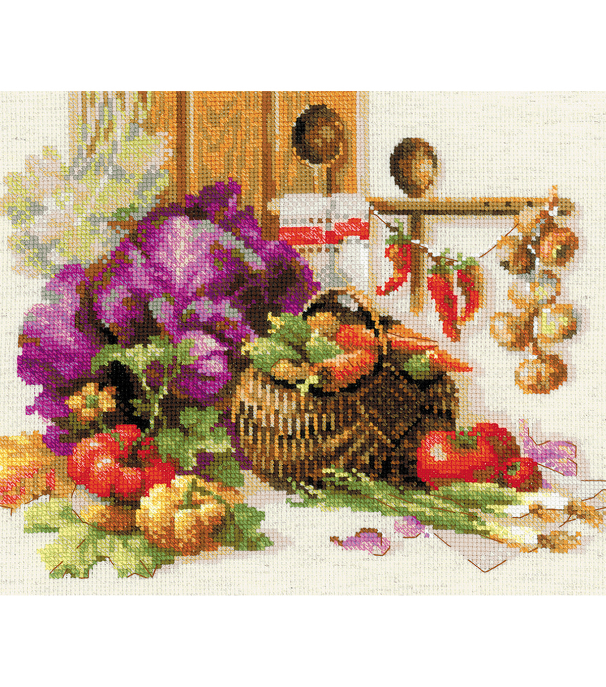 RIOLIS 15.75\u0027\u0027x11.75\u0027\u0027 Counted Cross Stitch Kit-Rich Harvest
