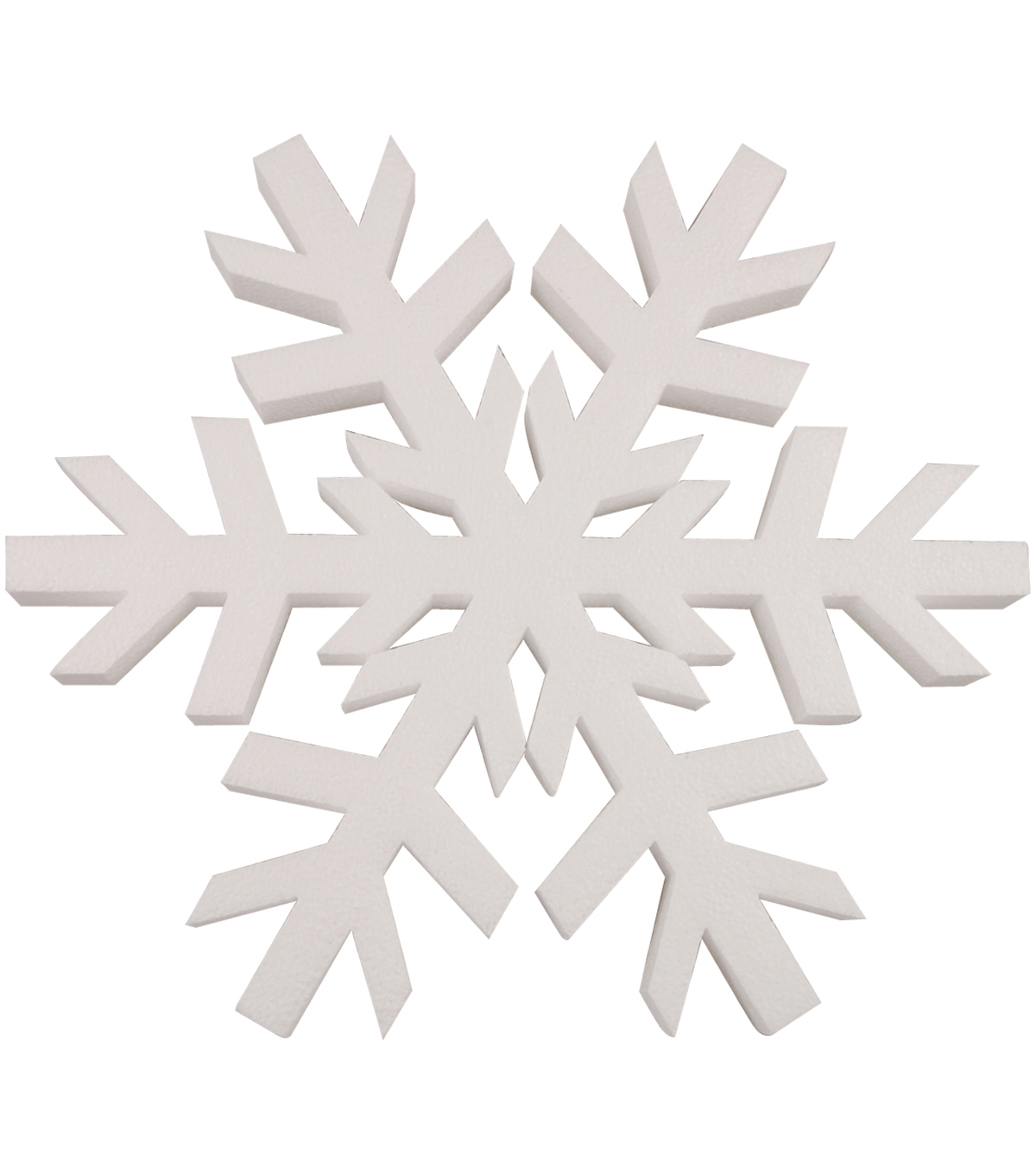 Plasteel Corp Smooth Foam Snowflake 12\u0022 1Pk-White