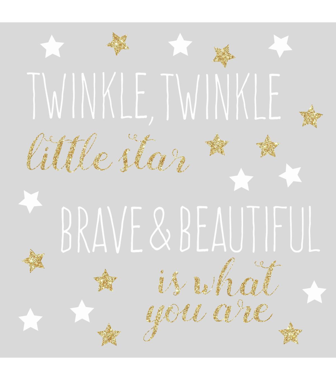 Twinkle Twinkle Little Star DIY Iron On Glitter Vinyl Transfers For Garments