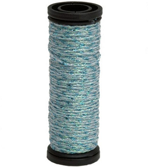 Kreinik Braid Metallic Thread Fine Size 8, Blue