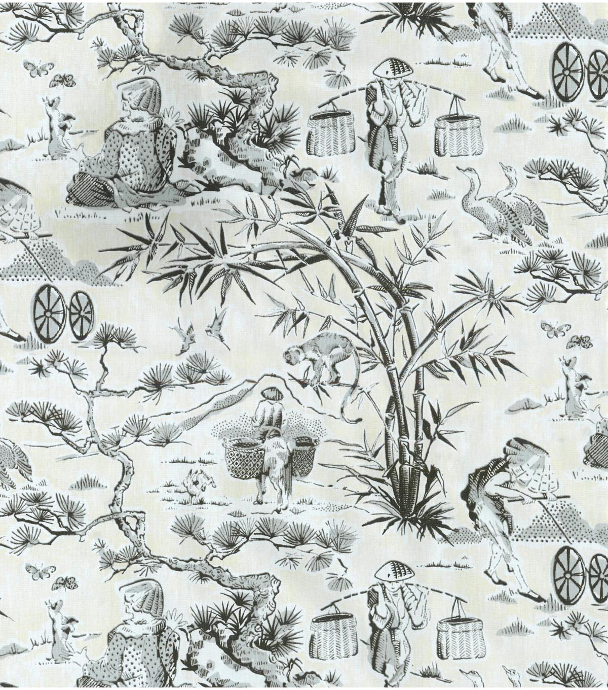 Home Decor 8\u0022x8\u0022 Swatch Fabric-Waverly Haiku Toile Noir