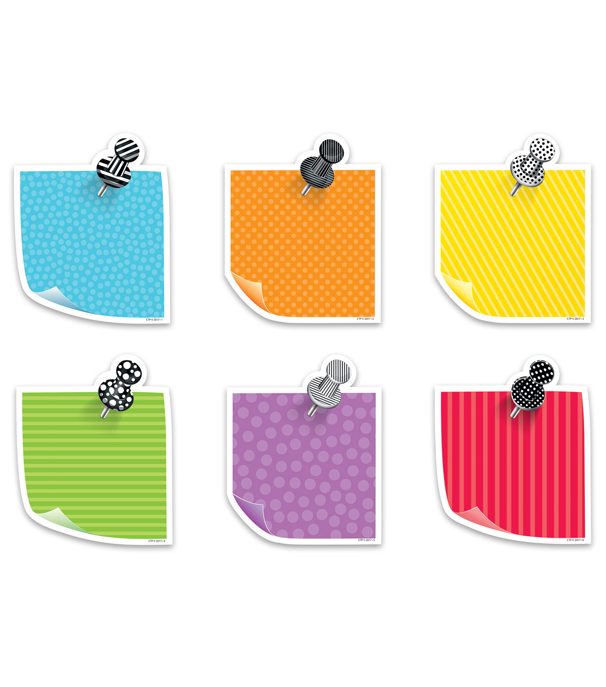 Creative Teaching Press Bold & Bright Sticky Notes 6\u0022, 36/Pack, 3 Packs