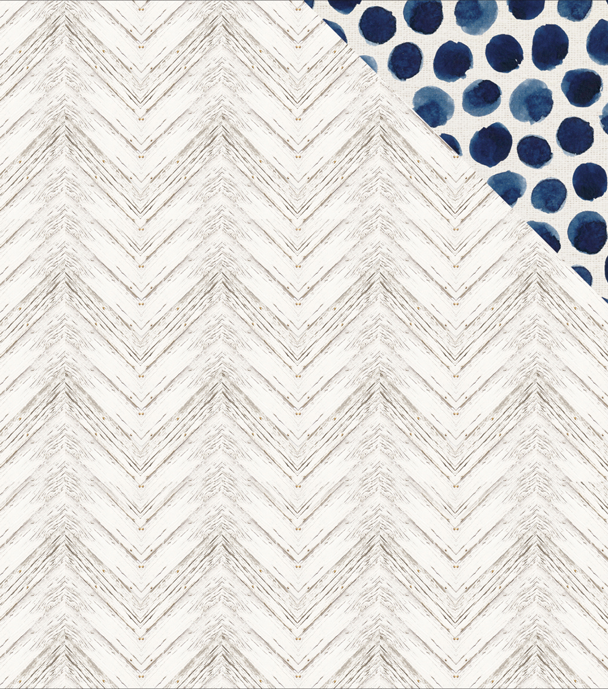 Indigo Skies Double-Sided Cardstock 12\u0022X12\u0022-Washed Out