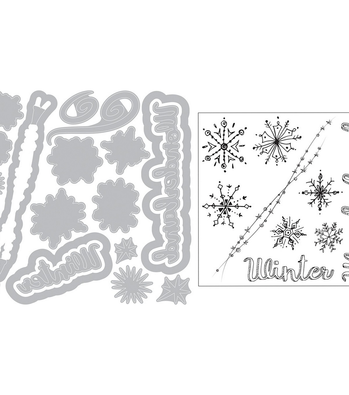 Sizzix Framelits Die & Stamp Set By Courtney Chilson-Snowflake Doodles