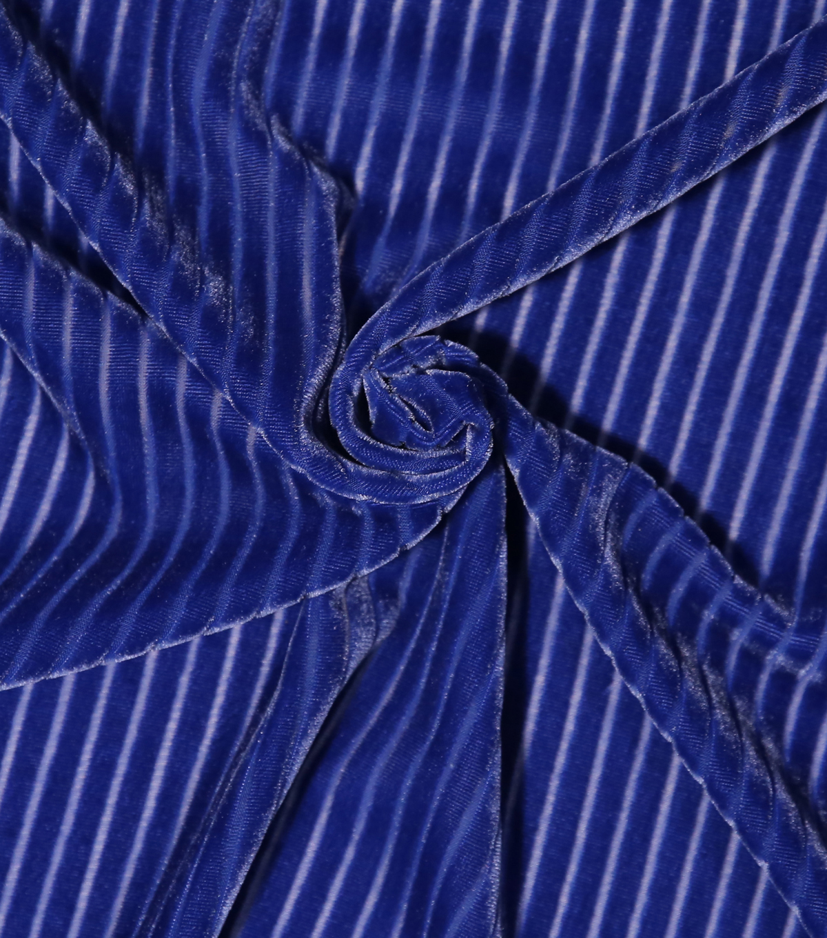 Casa Embellish Burnout Velour Fabric 52\u0027\u0027-Mazarine Blue Stripes